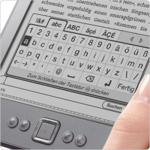Kindle 4: virtuelle Tastatur (Bild: Amazon)
