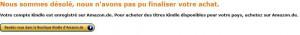 """Die """"Fehlermeldung"""" bei amazon.fr"""
