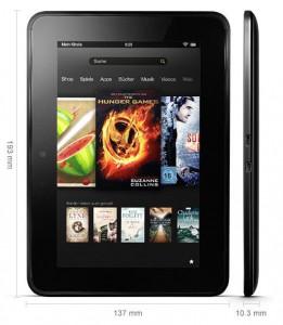 Die Maße des Kindle Fire HD (Bild: amazon)