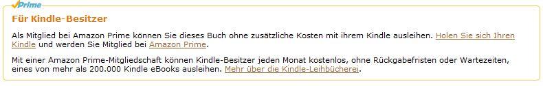 Das Erkennungszeichen ausleihbarer E-Books. Zum Ausleihen wird allerdings ein E-Book-Gerät von Amazon benötigt