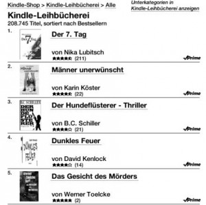 Die Bestseller der Kindle-Leihbücherei