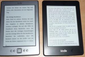 Kindle 4 eReader im Vergleich mit dem Kindle Paperwhite,