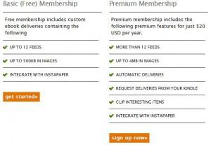 Kindlefeeder: Auch hie gibt es eine Premium-Mitgliedschaft