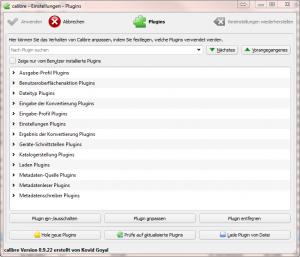 Calibre - Plugins installieren (Screenshot)