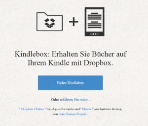 Kindlebox schickt Dateien automatisch an den Kindle