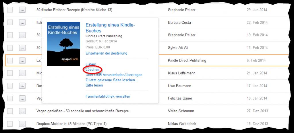 E-Book dauerhaft aus der Bibliothek entfernen