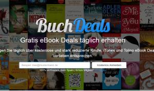 Buchdeals-Webseite