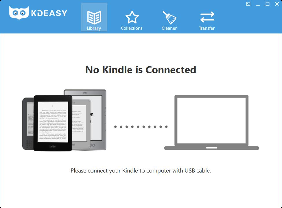 KDeasy (1): Ein eReader muss über USB angeschlossen werden.