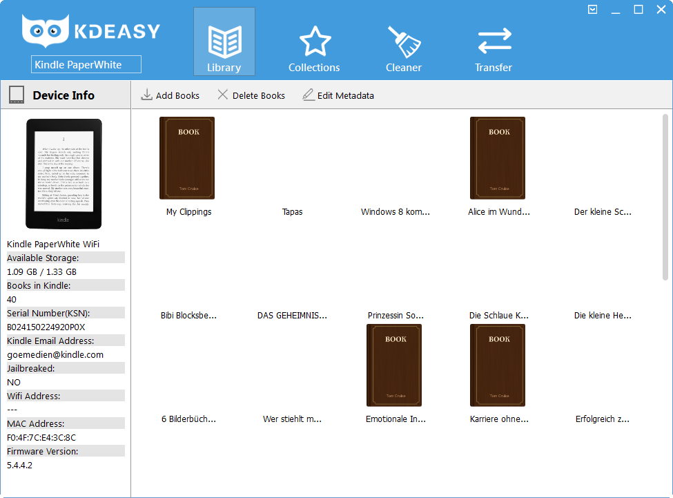 KDeasy-Hauptmenü