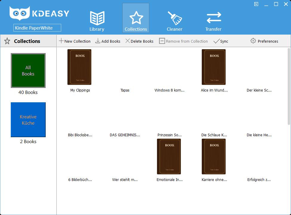Sammlungen mit KDeasy verwalten